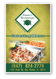 Link to Jimmy's Restaurant in Des Plaines catering menu